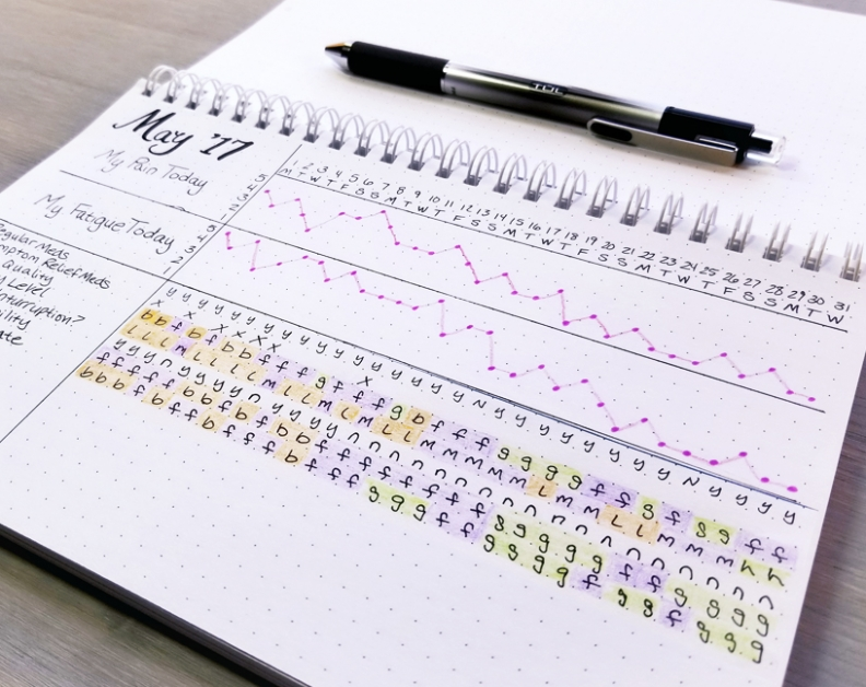 Tracking Your Flare Symptoms In Bullet Journal